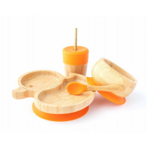 Duck Plate, Straw Cup, Bowl & Spoon combo in Orange