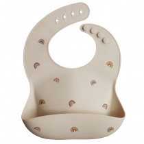 Silicone Baby Bib Printed Colors - Rainbow