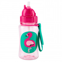 Zoo Straw Bottle  Flamingo