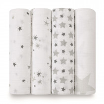 Classic 4-Pack Swaddles Twinkle