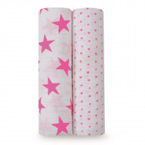 Classic 2-Pack Swaddles Fluro Pink