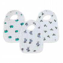 Classic 3-Pack Snap Bibs Jungle Jam