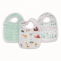 Classic Snap Bibs 3- Pack Around the world