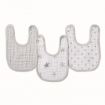 ADEN 3-Pack Classic Snap Bibs DUSTY