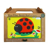 Rice Fiber Bento Box- Juju the Ladybug