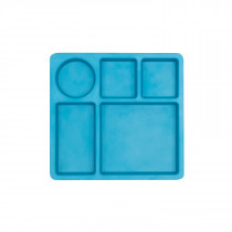 Divided Plate  -  DOLPHIN BLUE