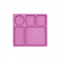 Divided Plate  -  FLAMINGO PINK