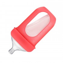 Silicone Bottle 8oz Coral