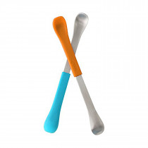 Swap 2 In1 Feeding Spoon-Orange and Blue