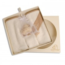 Newborn  Bath Gift Set Beige Dot