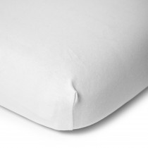 Bedside Crib - Fitted Sheet Bio Organic 50x90cm  - White