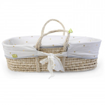 Moses Basket - Cover  - Gold Dots