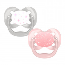 Advantage Pacifier - Stage 1, Pink Stars, 2-Pack