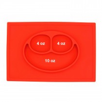 Plate Square Red