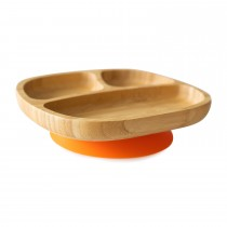 Toddler Plate with super suction base - Orange