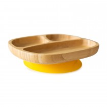 Toddler Plate with super suction base - Yellow