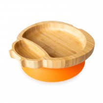 Ladybird Plate with suction base - Orange