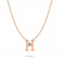 Baby Initial Pendant  Letter H, ح