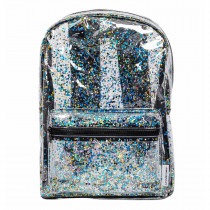 Backpack - Glitter - transparent/black