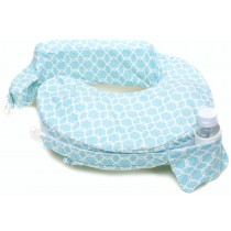 Deluxe Pillow- FLOWER KEY SKY BLUE