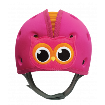 Soft Helmet For Babies Learning To Walk - Owl Pink Orange