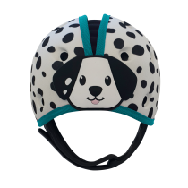 Soft Helmet For Babies Learning To Walk - Dalmation Blue