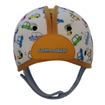 Soft Helmet For Babies Learning To Walk - Cars Orange