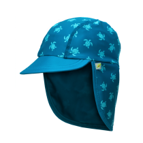 Jona Upf 50+ Sun Protection Flap Caps - Turtle Blue