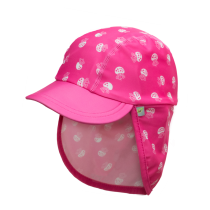 Jona Upf 50+ Sun Protection Flap Caps -  Jellyfish Pink