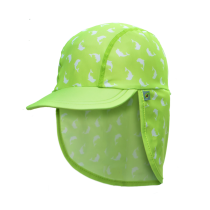 Jona Upf 50+ Sun Protection Flap Caps - Dolphin Green