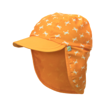 Jona Upf 50+ Sun Protection Flap Caps - Crab Orange