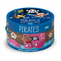 Book And Giant Puzzle Round Box -Pirates
