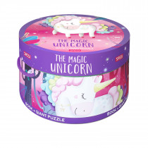 Book And Giant Puzzle Round Box -The Magic Unicorn