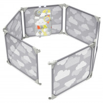 Playview Expandable Enclosure - Grey/Clouds
