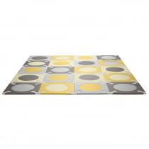 Playspot Floor Tiles - Gold & Grey