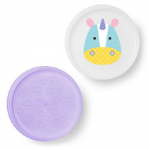 Zoo Smart Serve Non-Slip Plates - Unicorn