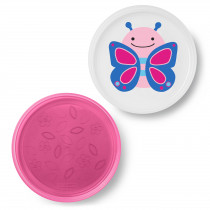 Zoo Smart Serve Non-Slip Plates - Butterfly
