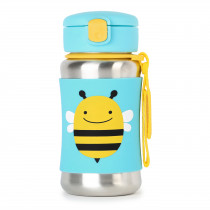 Zoo Stainless Steel Straw Bottle - Bee