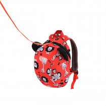Kids Backpack - Zoo Red
