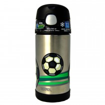 FUNtainer Bottle Stainless Steel Hydration Bottle, 355ML − Football