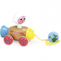 Pull Toy − Astronaut In A Rocket