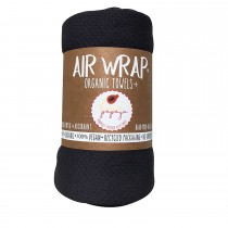 Woombie Kaia Papaya Air Wrap Organic Blanket -  Single Black