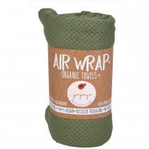 Woombie Kaia Papaya Air Wrap Organic Blanket -  Single Green