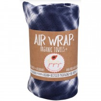 Woombie Kaia Papaya Air Wrap Organic Blanket -  Single Navy/White Tie Dye
