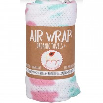 Woombie Kaia Papaya Air Wrap Organic Blanket -  Single Pink/Aqua Tie Dye