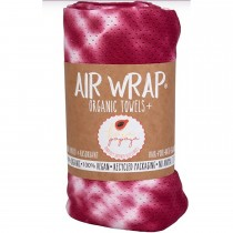 Woombie Kaia Papaya Air Wrap Organic Blanket -  Single Red/White Tie Dye