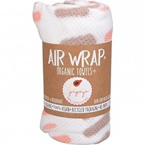 Woombie Kaia Papaya Air Wrap Organic Blanket -  Single Peach/Tan Tie Dye