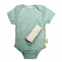 Woombie Air Tee - Green & White - 0-3 Months