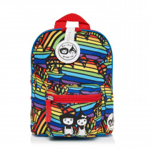 Mini Backpack+ Safety Harness − Rainbow Multi