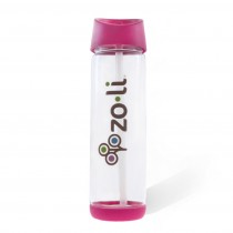 Pip 18oz Straw Water Bottle - Pink